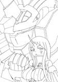 港湾棲姫×ユニコーンガンダム(ユニコーンモード)