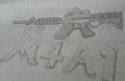 M4A1を描いてみた