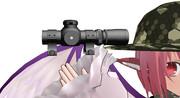 【MMDアクセサリ、モデル配布あり】ピストルスコープ(アサシンP改造モデル