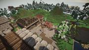 【Minecraft】小さな村(途中)