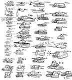 world of tanksの戦車をうろ覚えで描いてみた