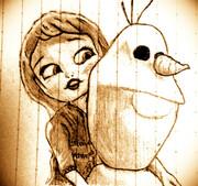 エルサとオラフ