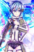 【SAO】シノン描いてみた