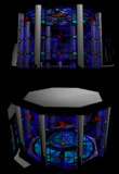 stain glass stage