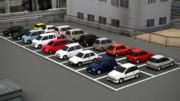 軽自動車しか停まっていない駐車場