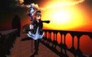 エイミ『石橋から見える夕日』