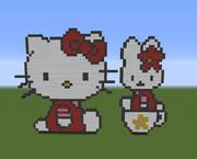 【Minecraft】キティちゃん【ハローキティ】