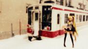 ある日の会津田島駅にて