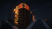【Minecraft】繁華街の夜景 その1
