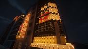 【Minecraft】繁華街の夜景 その2