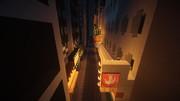 【Minecraft】繁華街の夜景 その4