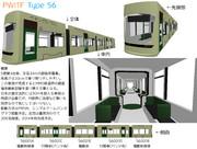 大型超低床電車