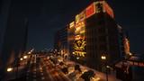 【Minecraft】繁華街の夜景 その5