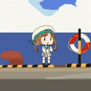 エラー娘、抜猫を弾くgifアニメ