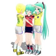 【MMD】試合に負けて泣いてるミクちゃんを慰めるミクちゃん【ぴくちぃ式ミク】