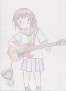 おかちーがギターに挑戦したようです