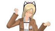 【MMD】クリスタに猫耳カチューシャ付けてみた