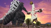 【MMD】ゴジラ 対 太陽の塔のロボ