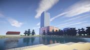 【Minecraft】公園から臨む北洋本社ビル
