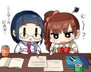 お勉強教える先輩と響子ちゃん