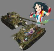 WoTスキン T-34-85 南条光ちゃん