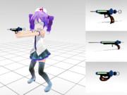 注射器銃 Ver_1.00(初めてのガンモデル??)