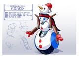 雪だるま型メダロット