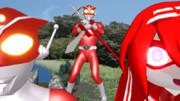 【MMD特撮】赤い人たち