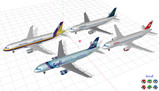 A320-200 テクスチャ配布予告(→A320 v0.4に同梱して配布中)
