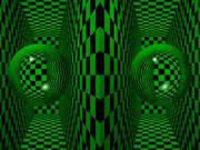 立体視画像「球」