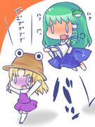 【お題】ケロちゃんをprpr早苗さん(?)