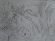 ポルナレフをアニメ見ながら描いてみたよ