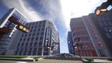 【Minecraft】繁華街とオフィス街の中間あたり