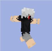 【Minecraft】白カネキスキン サンプル【東京喰種】