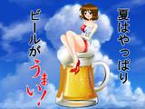 【85】ビール好きのやこたんに!【放送用イラスト】