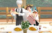 【MMD】バトルを食べる超!!二重カレーチャレンジ!!