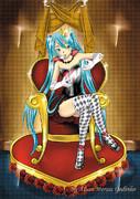 ハートのミク女王