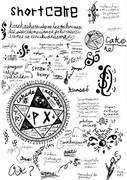 暇なので練習として魔導書の1ページを描いてみた