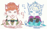 【GIF】ネコと猫の女王