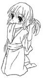 髪を結んでる着物きた幼女