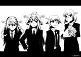 黒スーツ金剛型姉妹