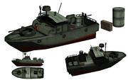 MMD用モブ河川哨戒艇セット