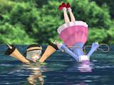姉妹、湖に溺れる