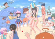 【艦これ】夏!水着!ヒャッハー!(はいないけど)【集合絵】