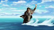 大和田常務が水上スキーを楽しんでいる画像を下さい
