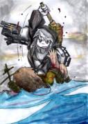 「お前らなんかに、海を渡すかっ!!」