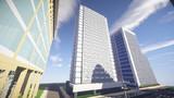 【Minecraft】駅前高層ホテル
