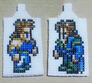 【ビーズ織り】FF6=フィガロ兄弟=【織ってみた】