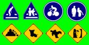 道路標識と化した先輩.GB
