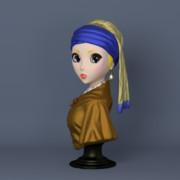 アニメ風 真珠の耳飾りの少女